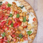 White Pizza with Chicken & Tomatoes