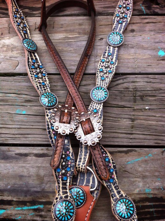 Custom Turquoise Tack Set by The Cowboy Junkie
