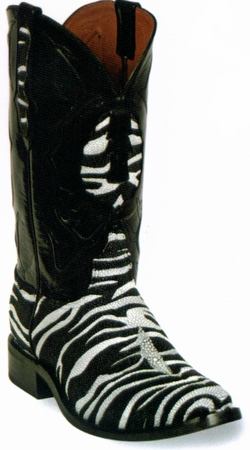 Zebra Stingray Cowboy Boots