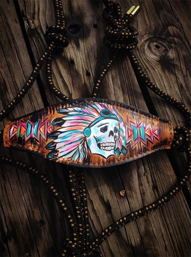 Big Chief Skull Rope Halter