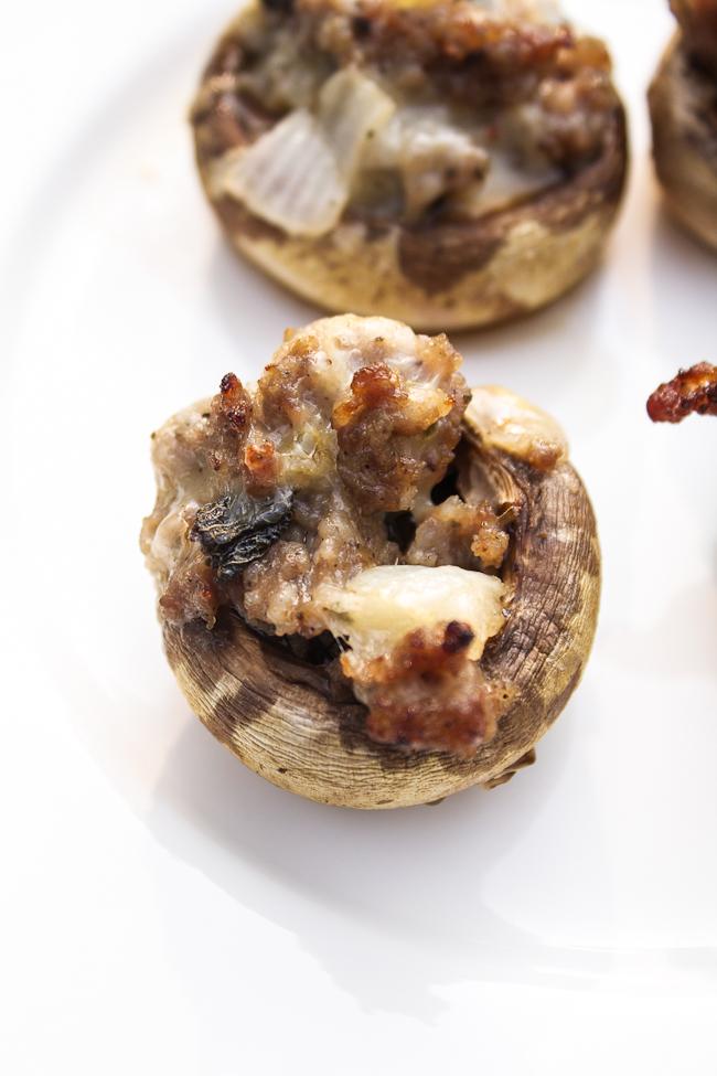 Sausage & Pepper Jack Stuffed Mushrooms Recipe
