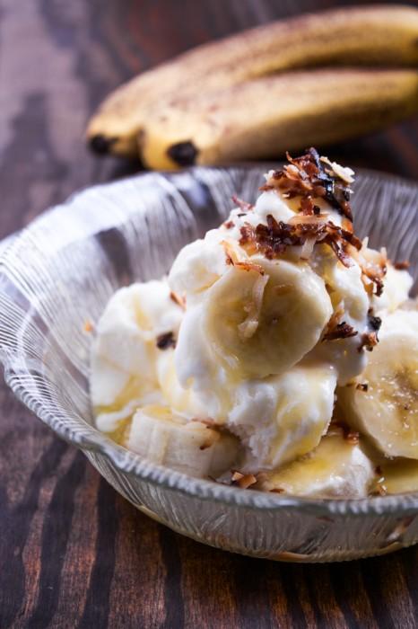 Toasted Coconut & Banana Sundae Recipe