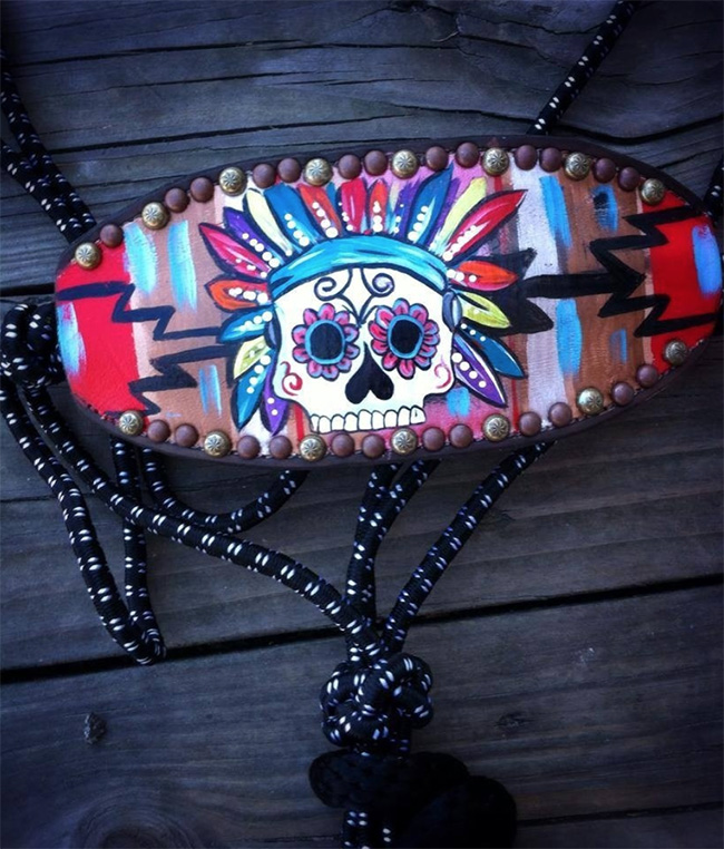 Wild Indian Sugar Skull Halter