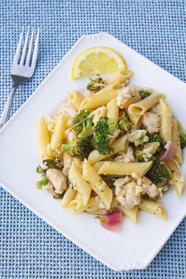 Simple Lemon Broccoli Pasta