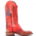 Red Lucchese Wingtips
