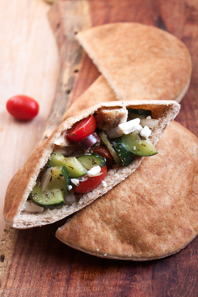 Greek Pita Pockets loaded with flavor and easy to make for lunch