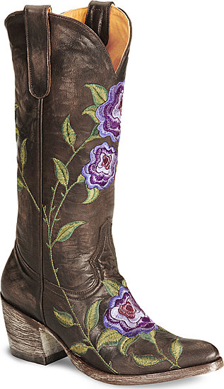 Old Gringo Cowboy boots in brown & purple