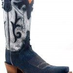Stonewashed Denim Cowboy Boots