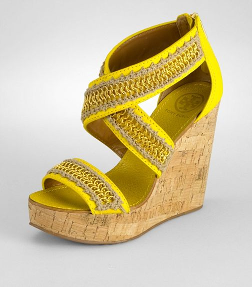 Tory Burch ~ Yellow & Olive