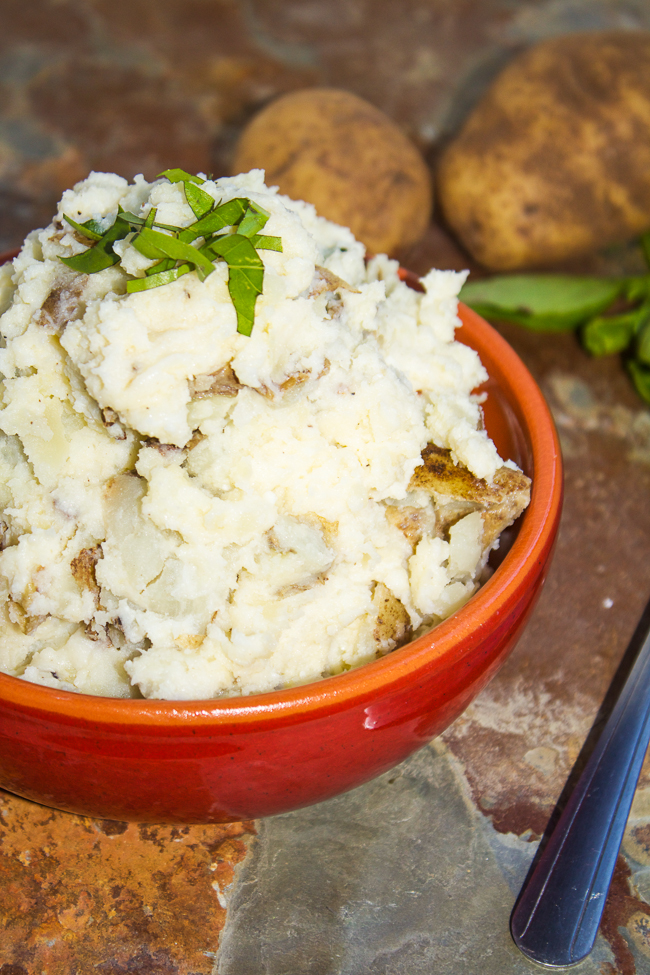 Parmesan Basil Mashed Potatoes