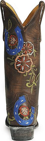 Old Gringo brown & blue cowboy boots