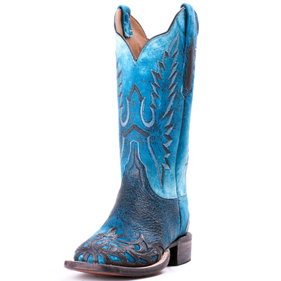 Blue Lucchese Filigree Boots
