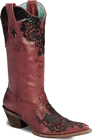 Corral Lizard Cutout Cowboy Boots