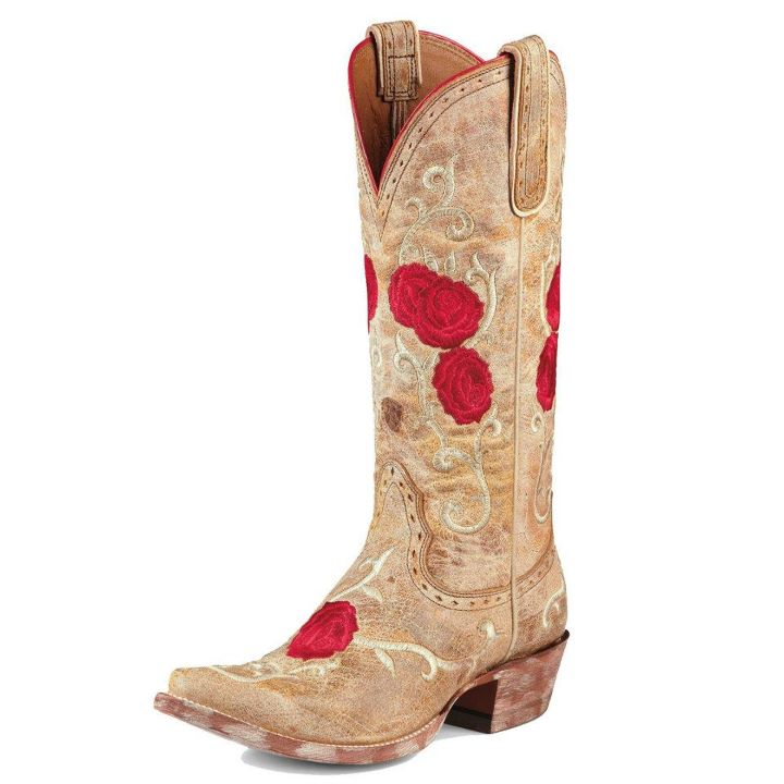 Red & Tan Ariat cowboy boots
