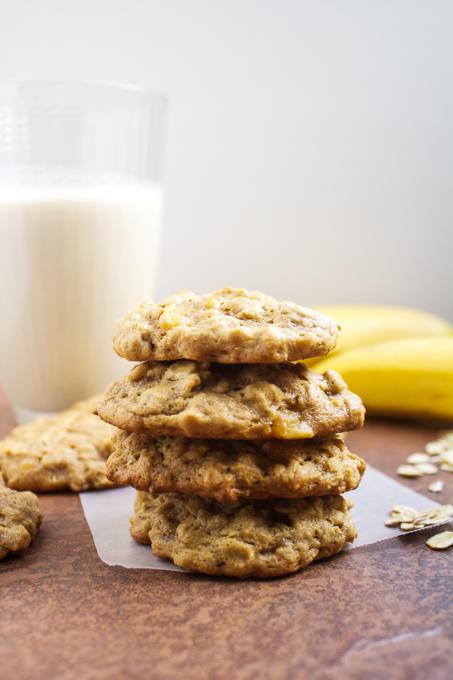 Oatmeal Peanut Butter Banana Cookie Recipe