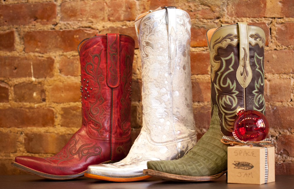 Christmas Cowboy Boots