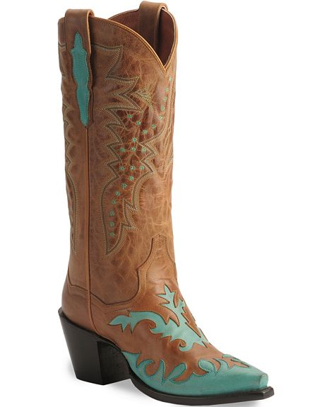 Dan Post Boots – Turquoise & Brown