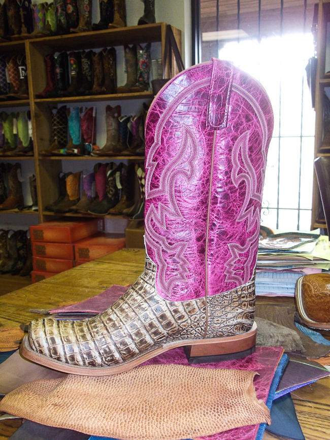 A finished Anderson Bean Boot in the showroom