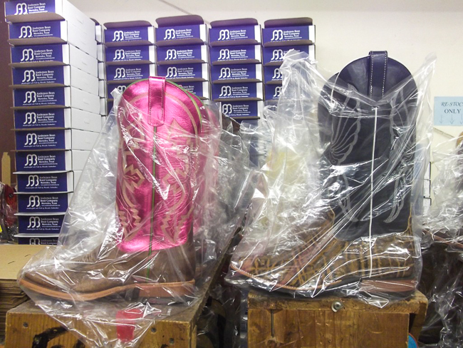 Anderson Bean boots ready for boxing & shipping