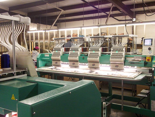 Sewing Machines in the Anderson Bean Factory