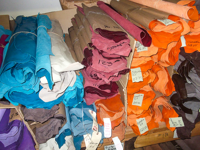 Various hides to make Anderson Bean Boots