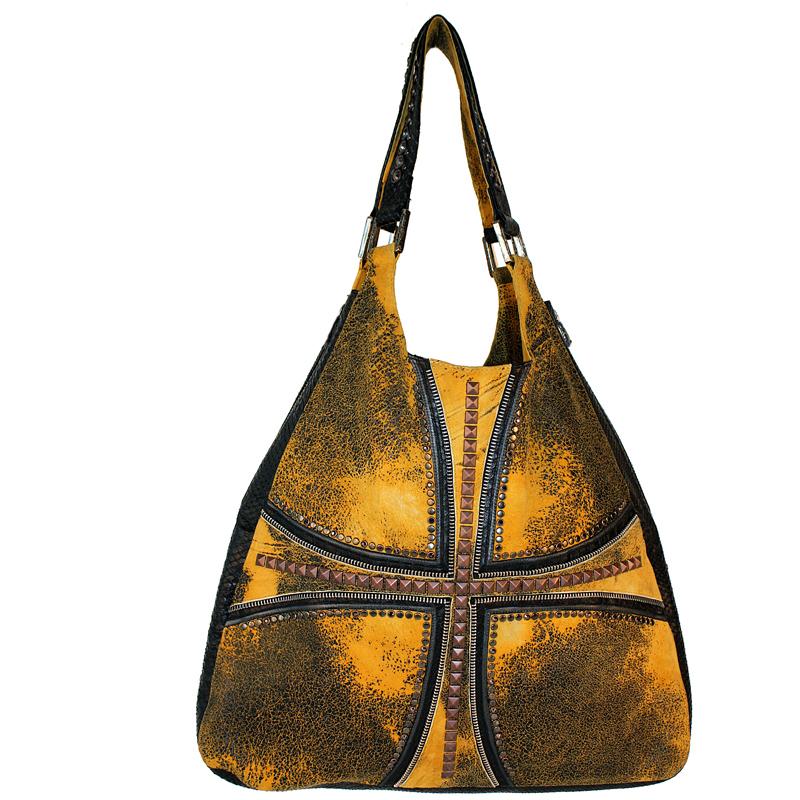 Zip Tooth Cross Overlay Bag by Kippy