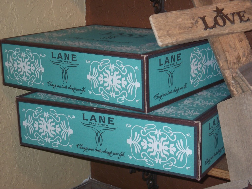 Pretty boxes of Lane boots