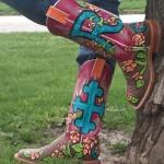 Custom Painted Rowdy Maui Cowboy Boots