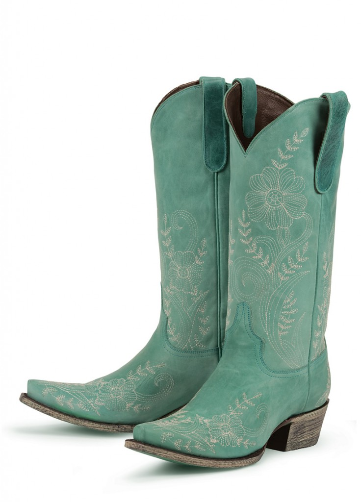 Ashlee Lace - Lane Boots in turquoise
