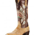 Ariat Mystic Feathers Peacock Print Boots