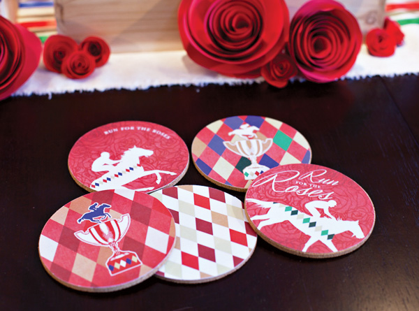 Kentucky Derby Party themed coasters