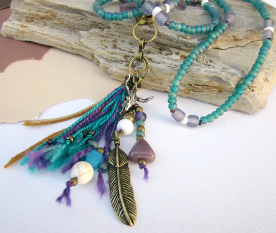 feathers & beaded jewelry