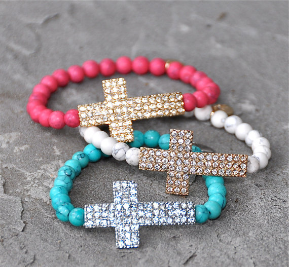 beaded cross bracelets
