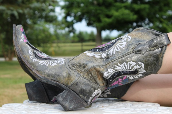 Horse Shoe & Rose Corral cowgirl boots