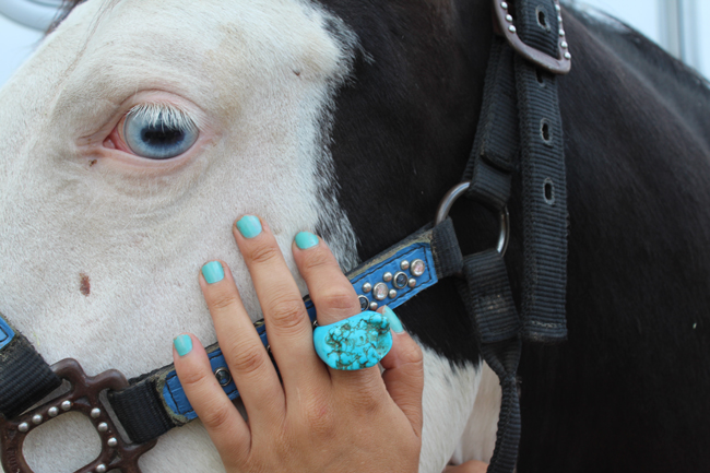 turquoise ring and nails