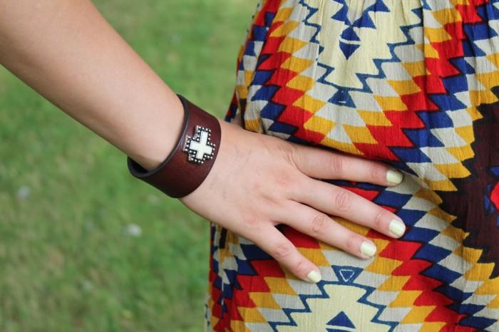Navajo print dress