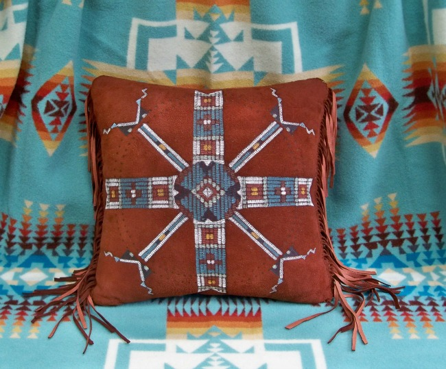 Suede Western Pillow