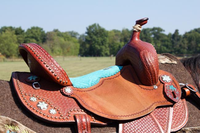 Double J Saddle, Turquoise Addition