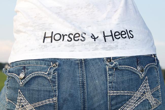 Horses & Heels tee shirts