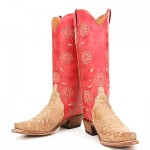 Red Lucchese Cowboy Boots