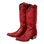 Lane Boots Does Red Well