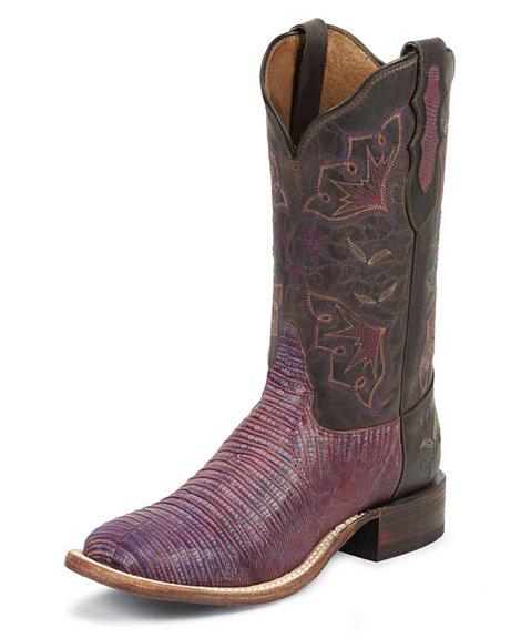 Purple Tony Lama cowboy boots
