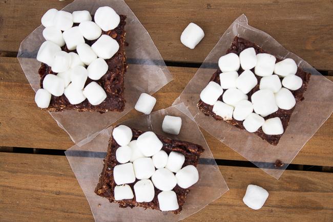 No Bake Marshmallow Bars