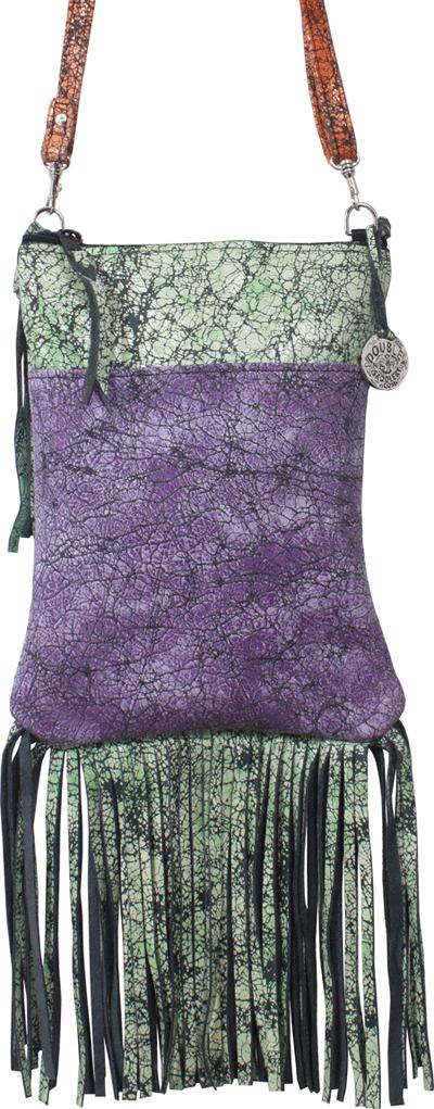 Purple & green Double J bag