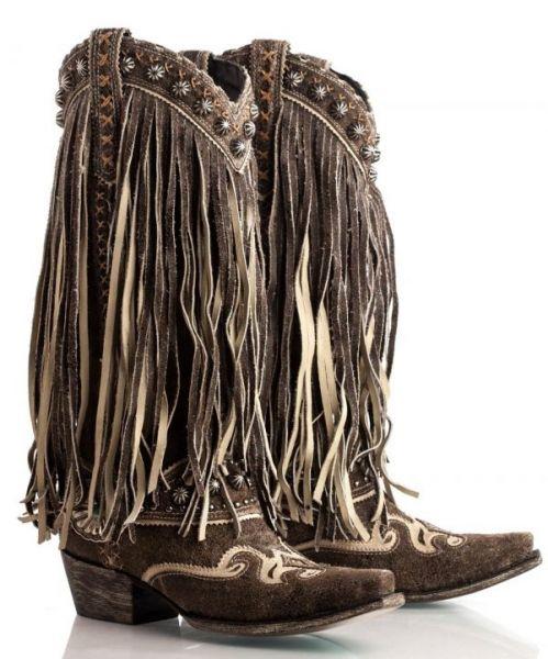 """""""Prescott"""" Fringe Boots"""