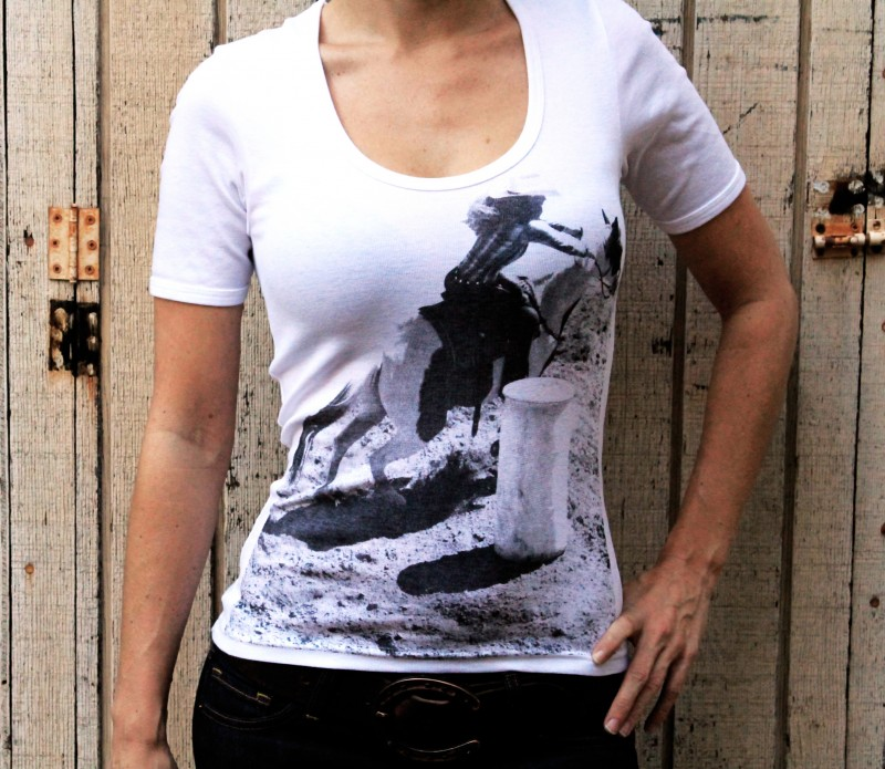 Honey Baby Equine Barrel Racer tee