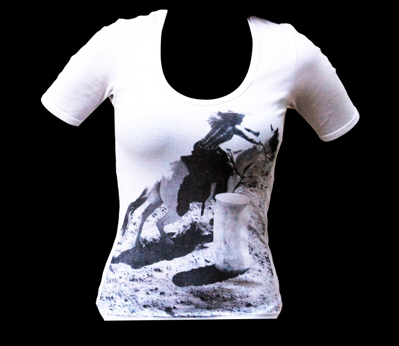 Barrel racer tee by Honey Baby Equine