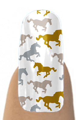 horse print nails