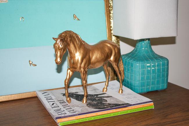 DIY-Gold-Breyer-Horse-Statue