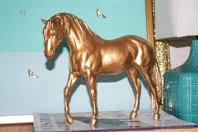 DIY: Gold Horse Statue